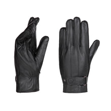Load image into Gallery viewer, YISEVEN Men's motorcycle gloves made of lambskin, genuine leather, lined leather gloves.