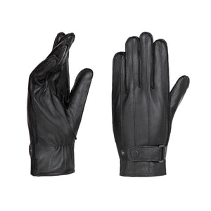 YISEVEN Men's motorcycle gloves made of lambskin, genuine leather, lined leather gloves.