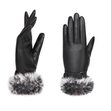 Load image into Gallery viewer, YISEVEN Women's Touchscreen Lambskin Leather Gloves Fur