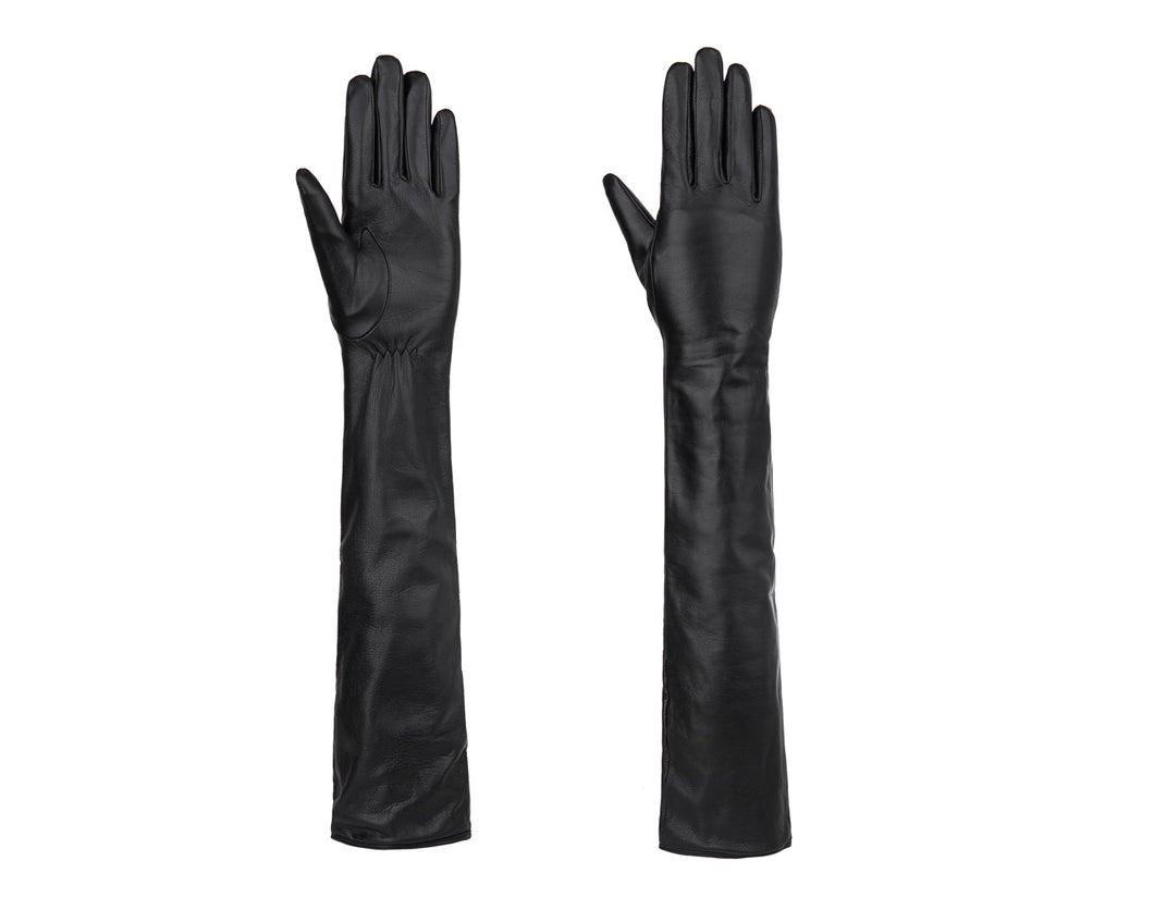 YISEVEN Women Touchscreen Long Opera Leather Gloves