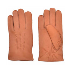 Load image into Gallery viewer, Men's Deerskin Leather Dress Gloves Fleece Lined Three Points