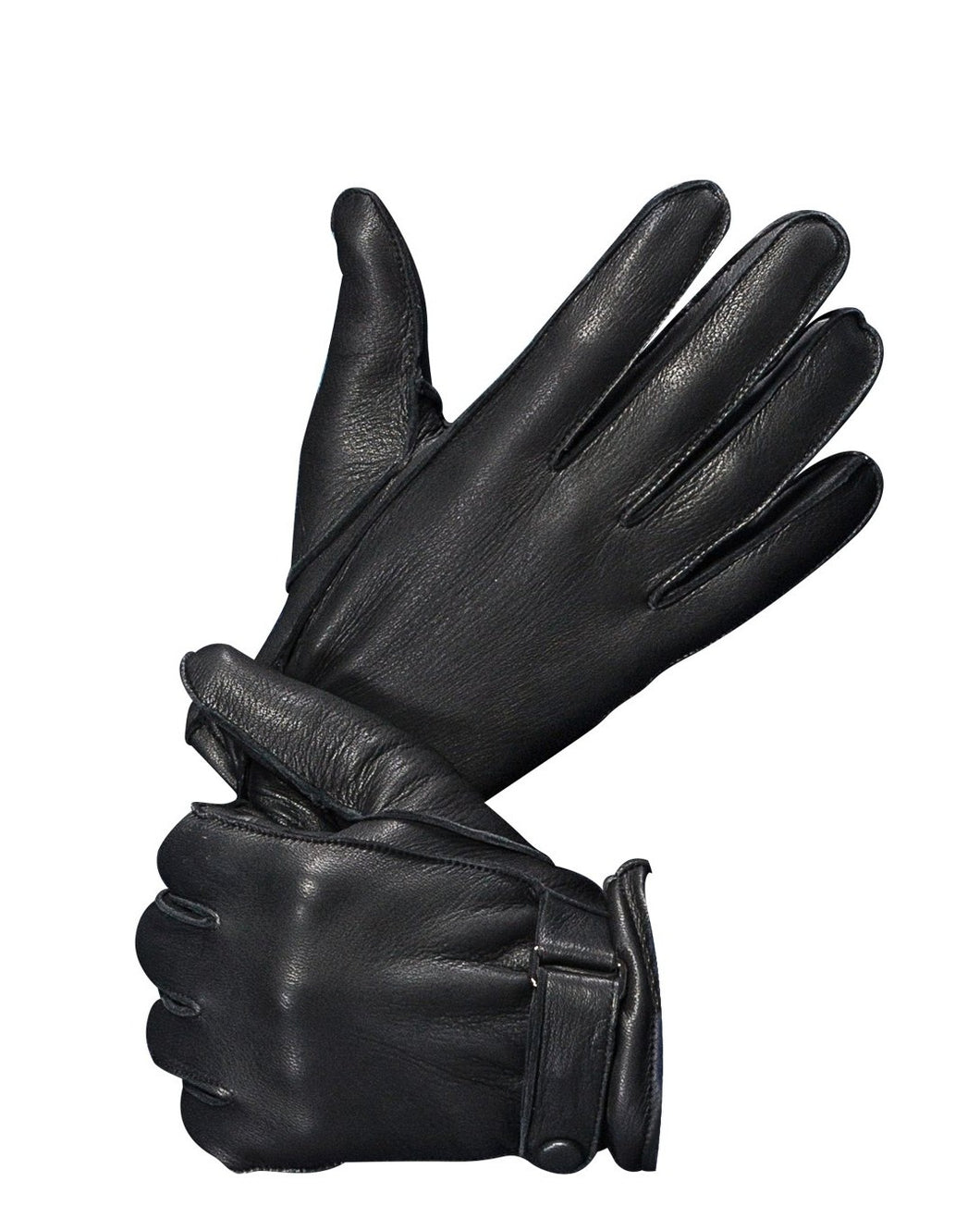 Men's Deerskin Leather Gloves with Classical Belt