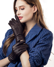 Load image into Gallery viewer, Women's Cashmere Lined Deerskin Leather Gloves Handsewn
