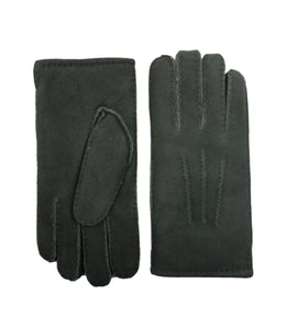 YISEVEN Men's Merino Rugged Lambskin Shearling Leather Gloves Three Points