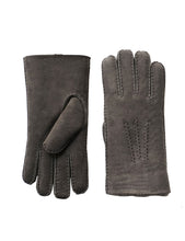 Load image into Gallery viewer, YISEVEN Men's Merino Rugged Lambskin Shearling Leather Gloves Long Flip Cuffs