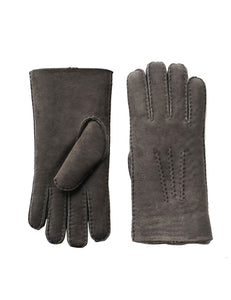 YISEVEN Men's Merino Rugged Lambskin Shearling Leather Gloves Long Flip Cuffs