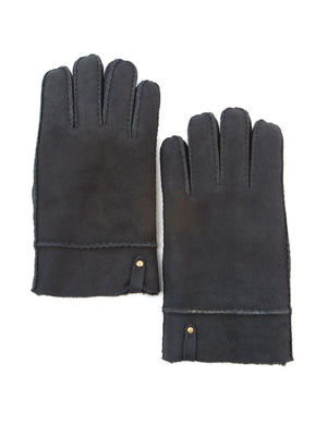 YISEVEN Men's Merino Rugged Lambskin Shearling Leather Gloves Flip Cuff