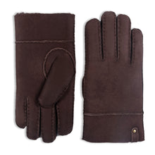Load image into Gallery viewer, YISEVEN Men's Merino Rugged Lambskin Shearling Leather Gloves Flip Cuff