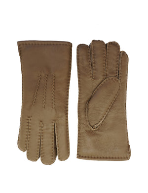 YISEVEN Men's Merino Rugged Lambskin Shearling Leather Gloves Button Cuff