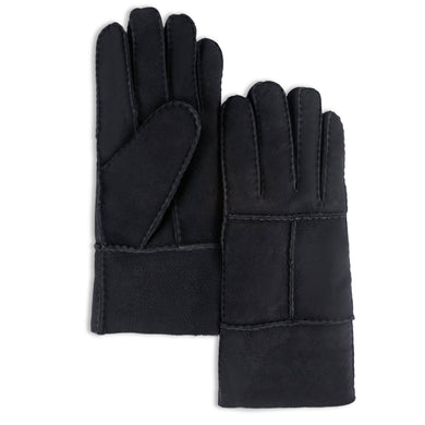 YISEVEN Men's Winter Sheepskin Shearling Leather Gloves Flip Cuff