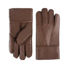 Load image into Gallery viewer, YISEVEN Men's Winter Sheepskin Mittens Shearling Leather Gloves Two Points