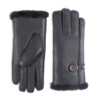 Women's Merino Rugged sheepskin Shearling Leather Gloves