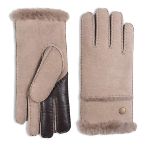 YISEVEN Women's Merino Sheepskin Shearling Leather Gloves Fur Cuff