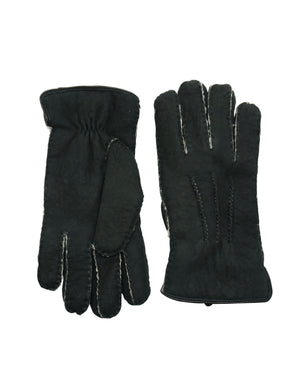 YISEVEN Women's Curly Shearling Gloves New Zealand Lambskin Handmade