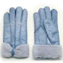 Load image into Gallery viewer, Women's Rugged Shearling Leather Gloves Three Points