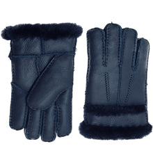 Load image into Gallery viewer, YISEVEN Womens Winter Sheepskin Shearling Leather Gloves Wool Lined Furry Cuffs