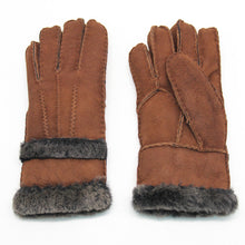 Load image into Gallery viewer, Women's Rugged sheepskin Shearling Leather Gloves Fur Cuff