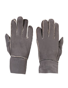 YISEVEN Womens Winter Shearling Sheepskin Leather Gloves Wool Lined Flat Design