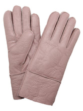Load image into Gallery viewer, YISEVEN Womens Winter Shearling Sheepskin Leather Gloves Wool Lined Flat Design