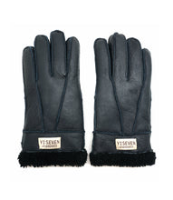 Load image into Gallery viewer, YISEVEN Womens Winter Sheepskin Shearling Leather Gloves Mittens Wool Cuffs