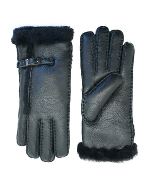 YISEVEN Womens Winter Sheepskin Shearling Leather Gloves