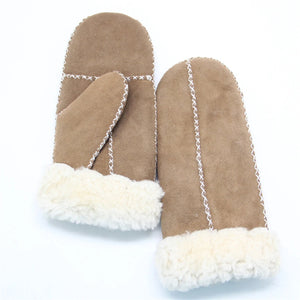 Women's Merino Rugged Sheepskin Shearling Mitten