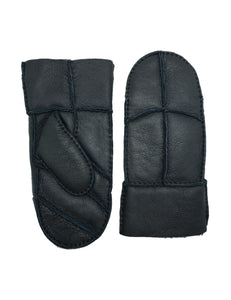 YISEVEN Women's Merino Sheepskin Shearling Leather Mitten Herringbone Design
