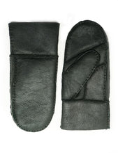 Load image into Gallery viewer, YISEVEN Women's Merino Sheepskin Shearling Leather Mitten Herringbone Design
