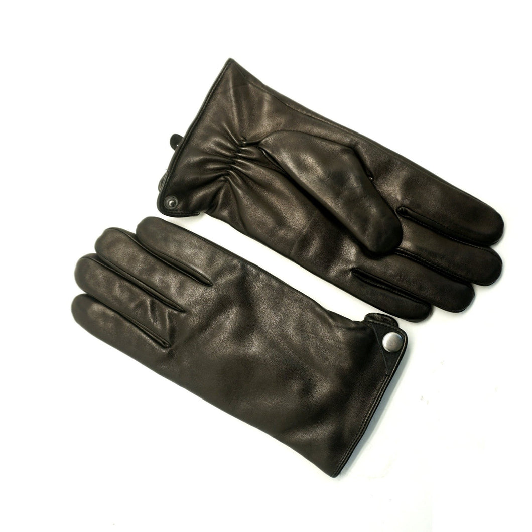 YISEVEN Men's Lambskin Leather Gloves