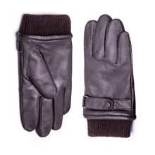 Load image into Gallery viewer, YISEVEN Men's Touchscreen Warm Fur Lined Lambskin Leather Gloves