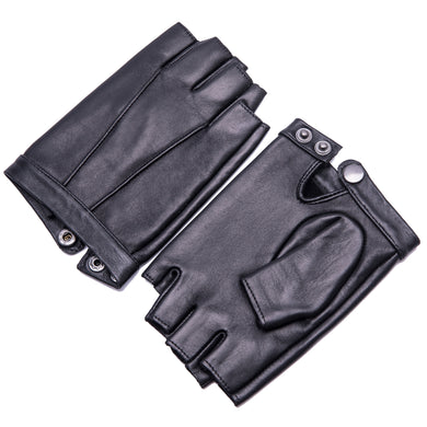 YISEVEN Mens Classic Leather Fingerless Driving Gloves