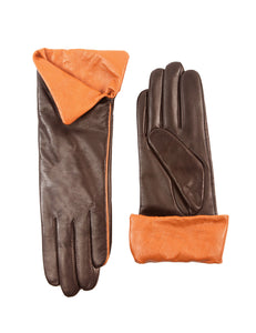 Women's Touchscreen Sheepskin Cuffed Leather Gloves Diva Stylish