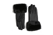 Load image into Gallery viewer, YISEVEN Women's Touchscreen Lambskin Leather Gloves Fur Cuff