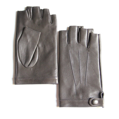 Women's Fingerless Lambskin Leather Gloves