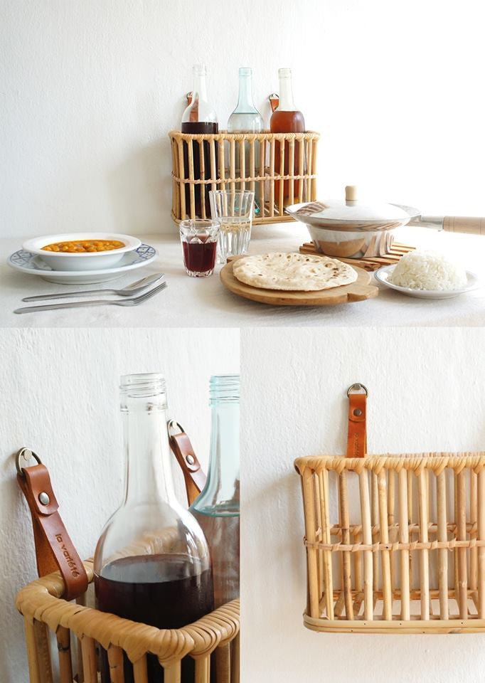 Rattan Bottle Rack