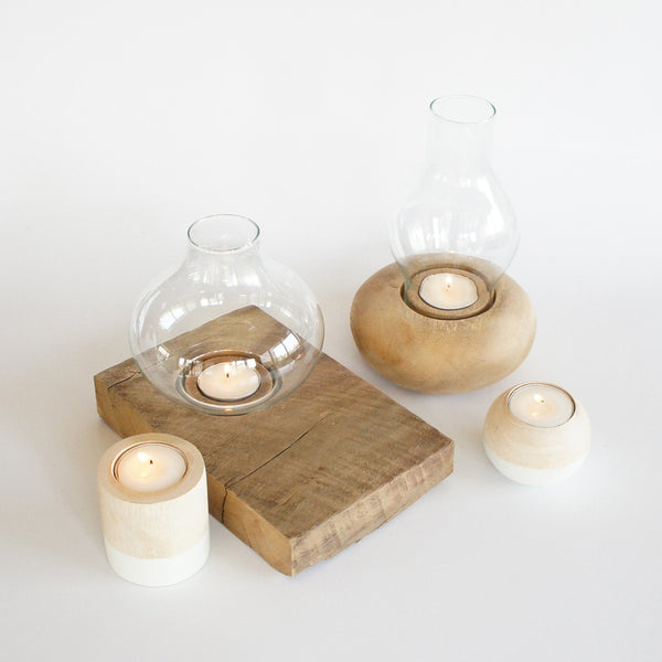 Candle Holder & Oval Glass Nº 3 Natural