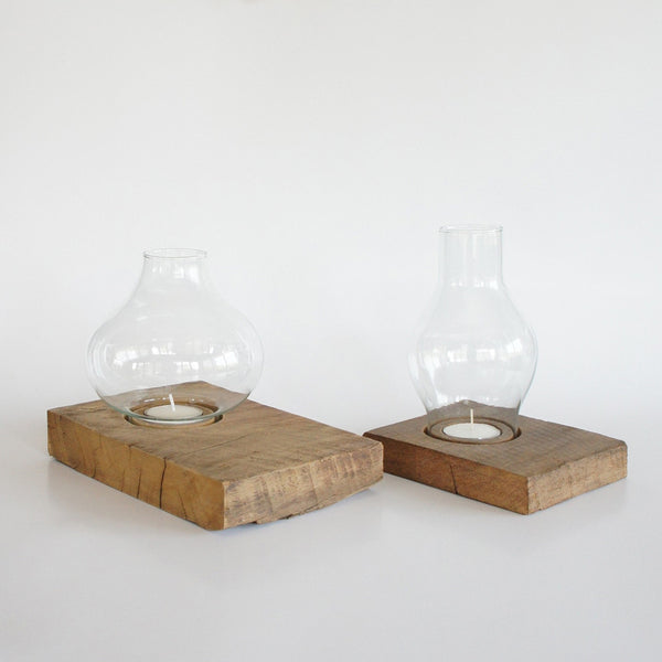 Candle Holder & Oval Glass Nº1