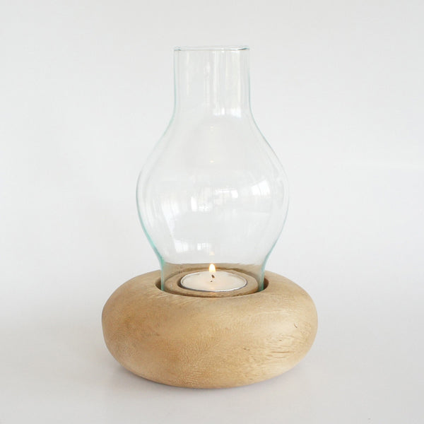 Candle Holder & Large Glass Nº 4 Natural