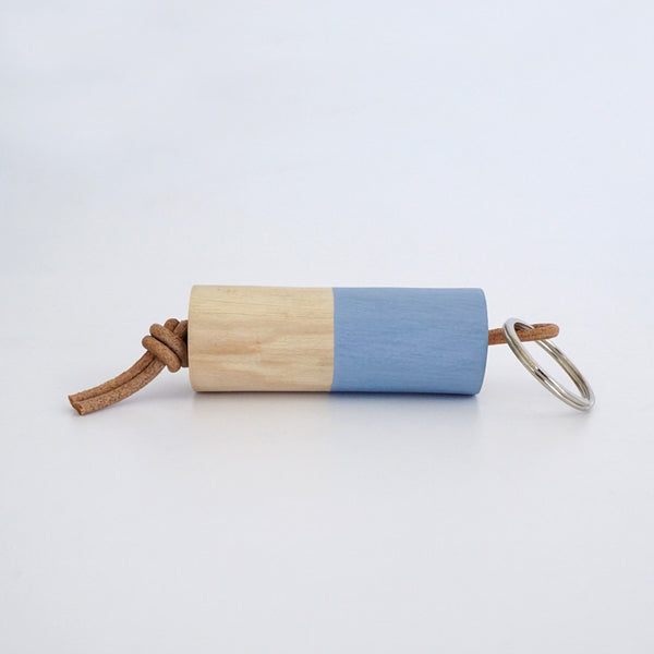 Wooden Branch Keyring (Med Blue)