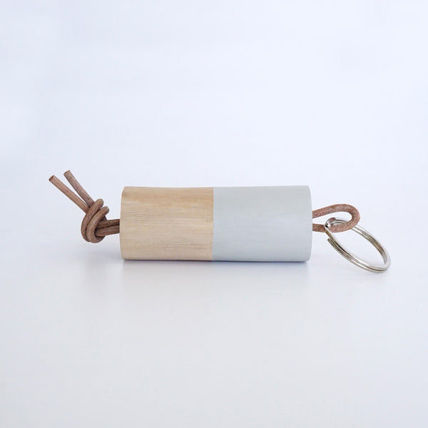 Wooden Branch Keyring (Grey)