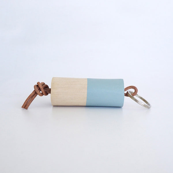 Wooden Branch Keyring (Green Water)