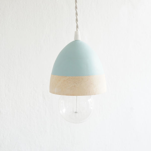 Pendant Light Acorn (Green Water Color)