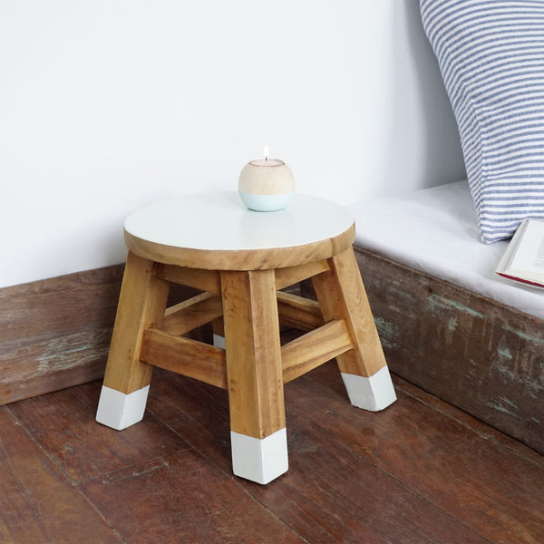 Mini Stool (Off White)