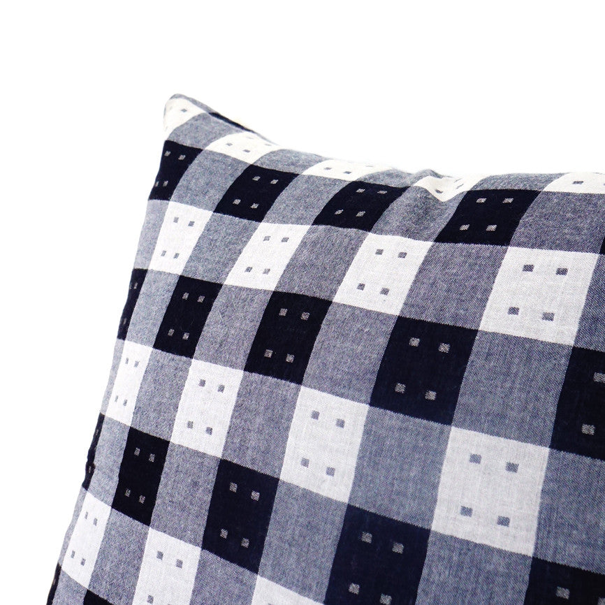 Blue & White Squares Cushion Nº3