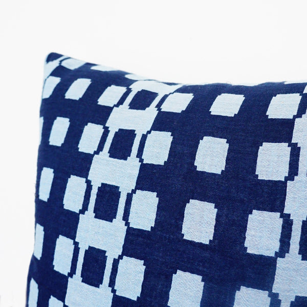 Blue Funky Pattern Cushion Nº4
