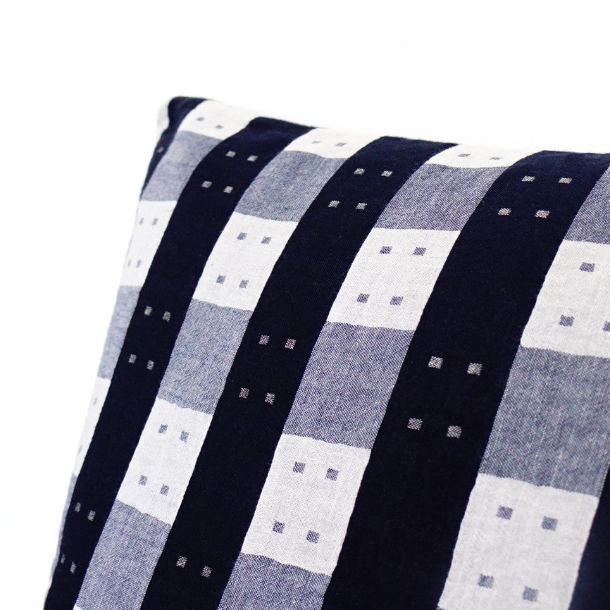 Blue & White Squares Cushion Nº2