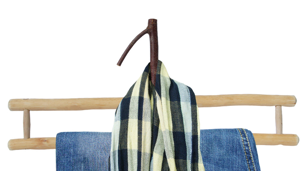 wooden cloth hanger.