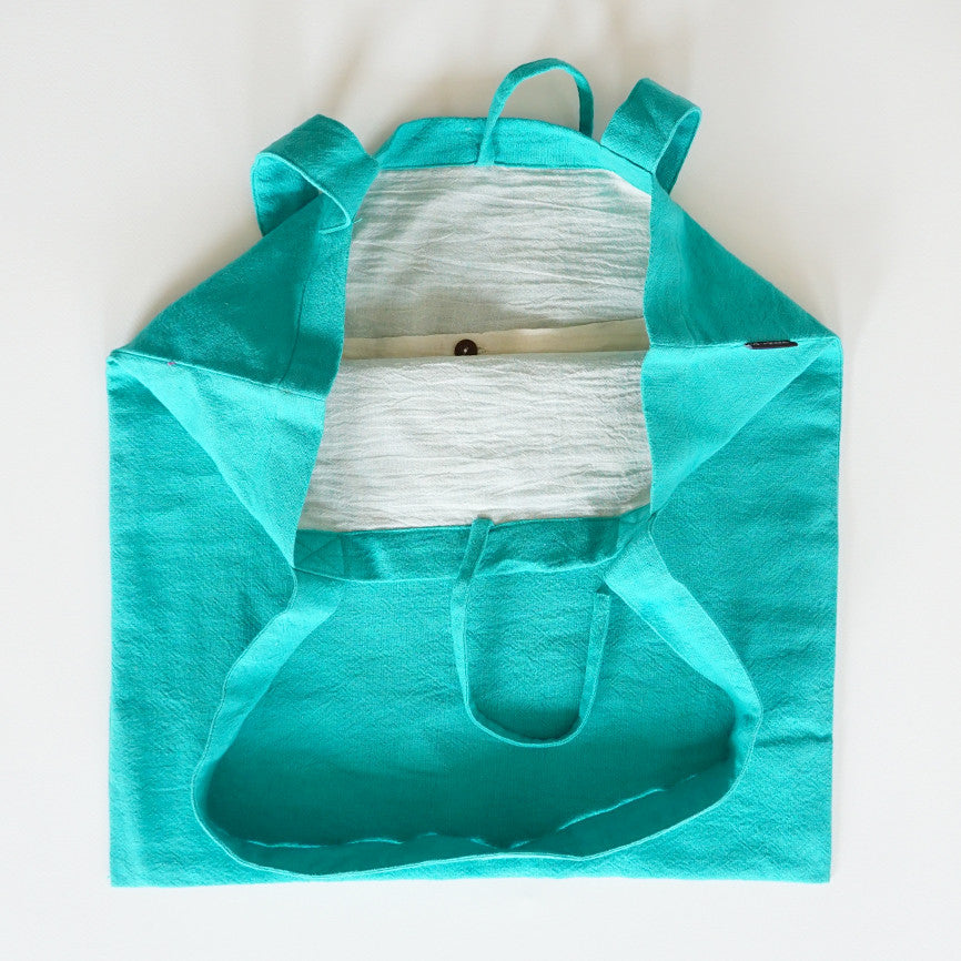 Shopping Bag Green Turquoise