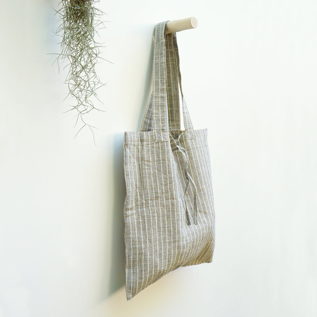 Shopping Bag Grey Lines