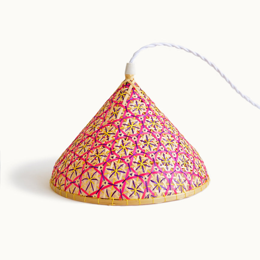 Bamboo Colored Lampshade N-2